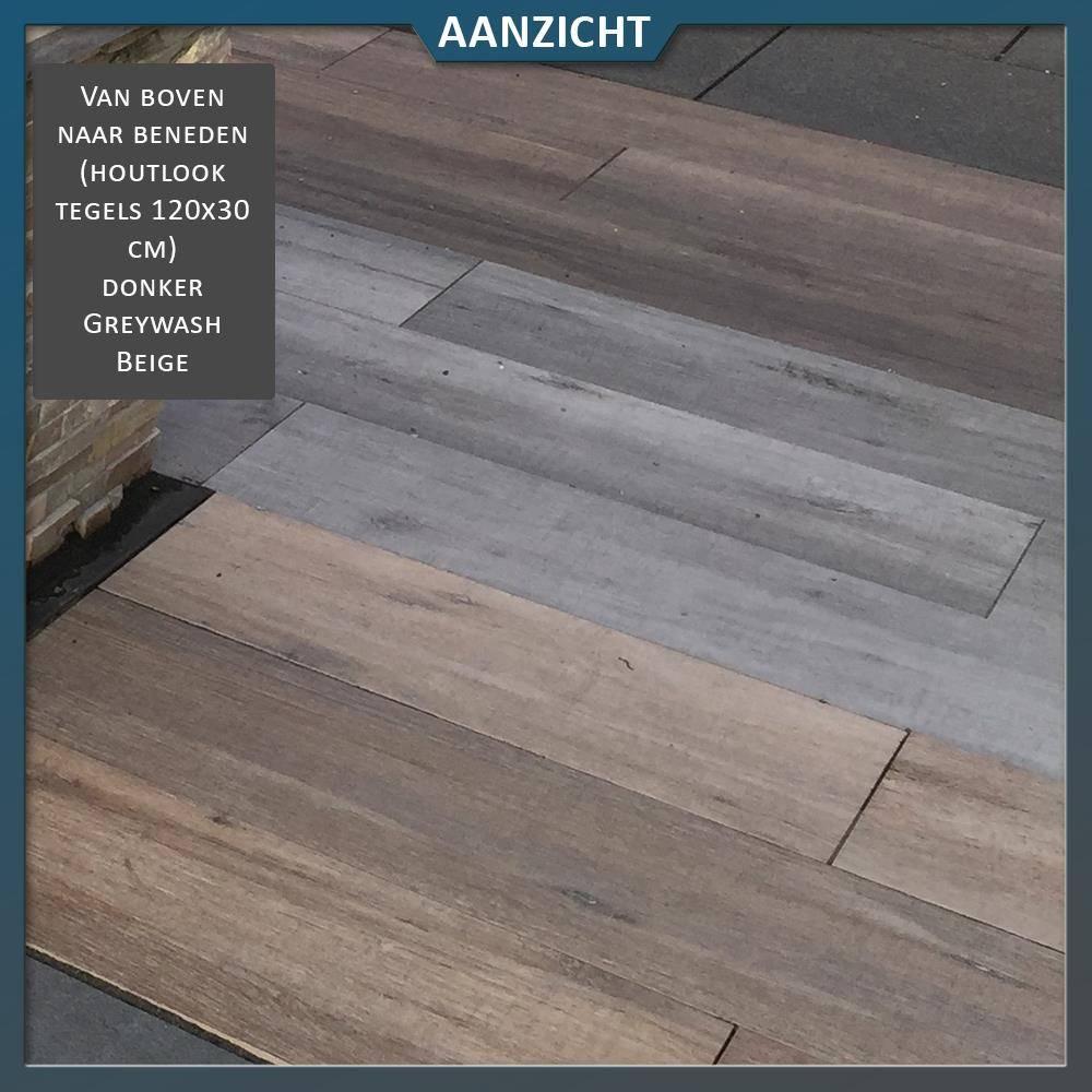 Favoriete Keramische tegel houtlook Greywash 120x30x2 cm KT54