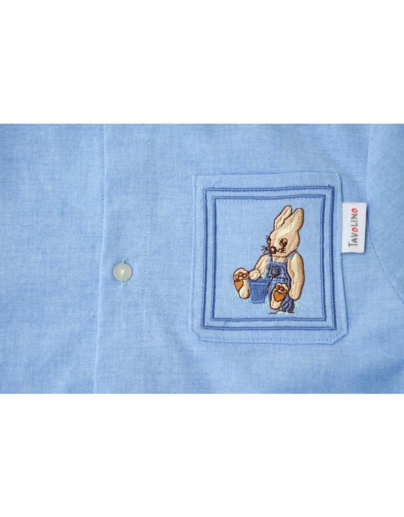 Tavolino Tavolino Nachthemd aus Chambray mit Stickerei