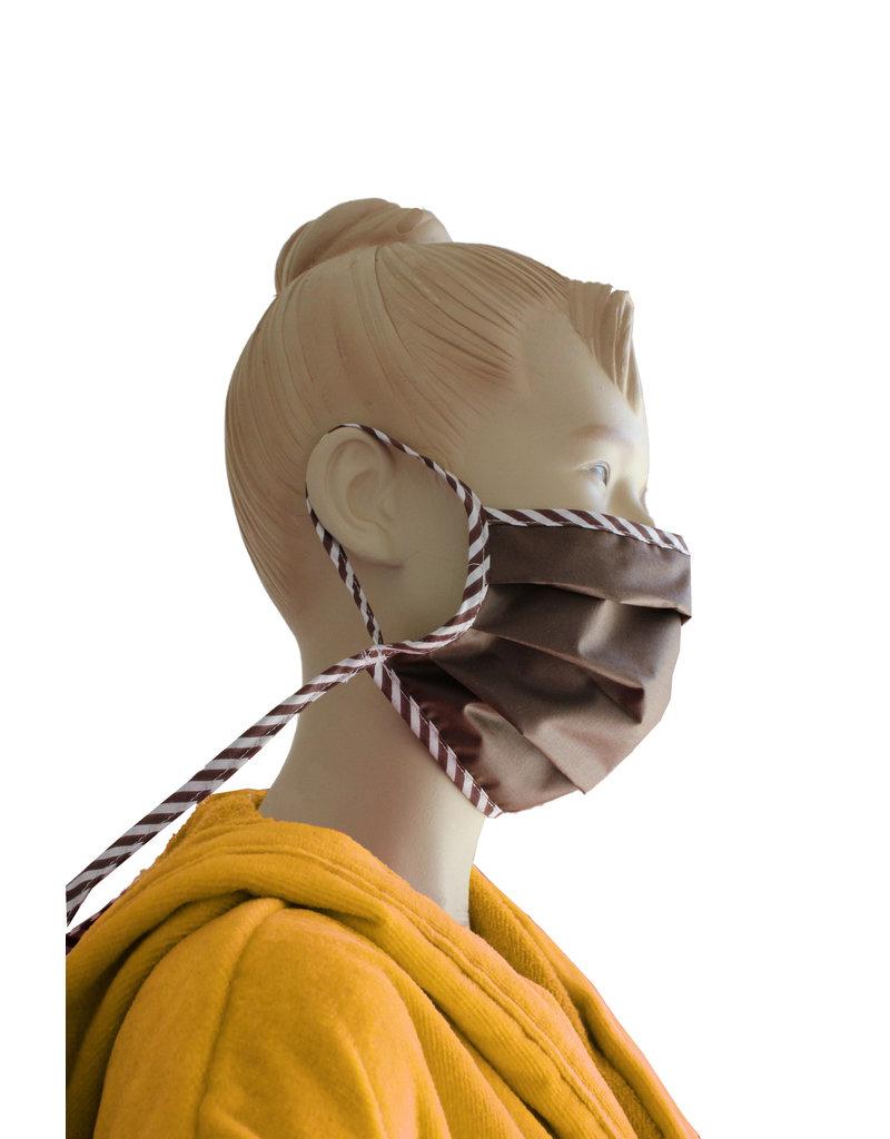TAVO  Umhänge-Mund-Nasen-Maske aus Stoff  für Erwachsene zum Umhängen und Hochklappen