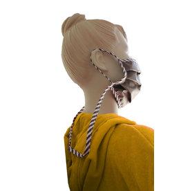 TAVO Umhänge-Mund-Nasen-Maske für Erwachsene (2Stück/ Umhängen)
