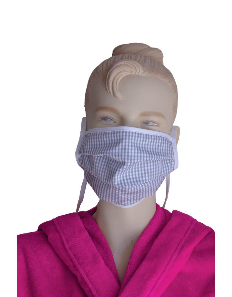 """TAVO  Umhänge-Mund-Nasen-Maske """"Twist-Karo"""" aus Stoff  für Erwachsene zum Umhängen und Hochklappen (Verpackungseinheit = 2 Stück)"""