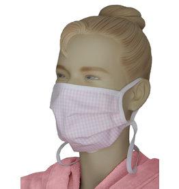 """TAVO Umhänge-Mund-Nasen-Maske """"Twist-Karo"""" für Erwachsene (2Stück/ Umhängen)"""