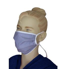 """TAVO Umhänge-Mund-Nasen-Maske """"klassischer Streifen"""" für Erwachsene (2Stück/ Umhängen)"""