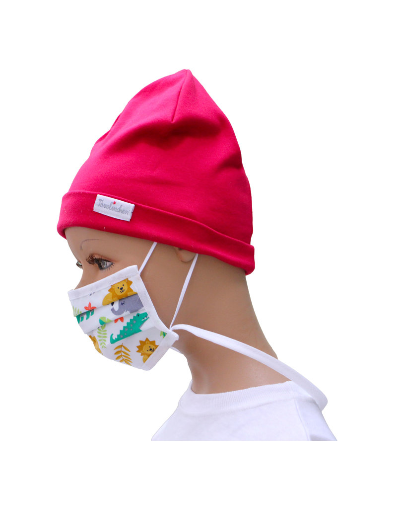 """Tavolinchen  Umhänge-Mund-Nasen-Maske """"Dschungel"""" aus Stoff  für Kinder zum Umhängen und Hochklappen (Verpackungseinheit =2 Stück)"""