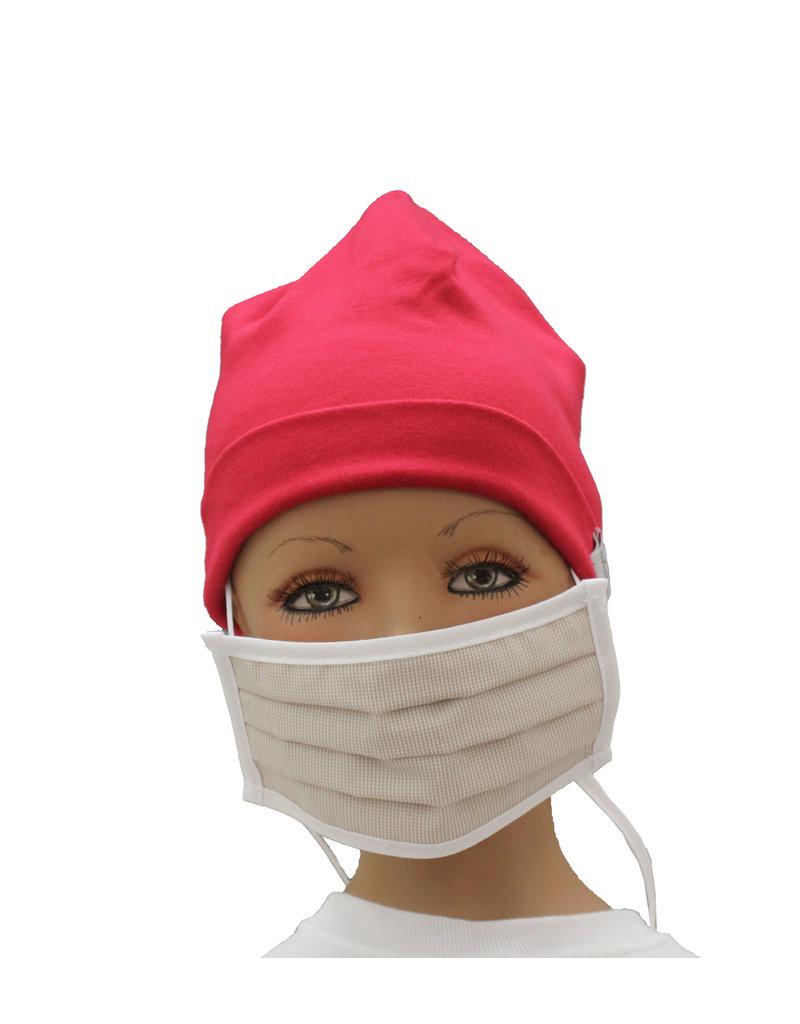 """Tavolinchen  Umhänge-Mund-Nasen-Maske """"Visconte-Karo"""" aus Stoff  für Kinder zum Umhängen und Hochklappen (Verpackungseinheit =2 Stück)"""