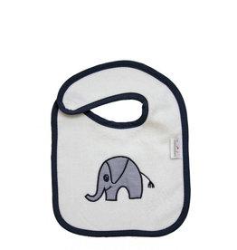 """TAVO Druckknopf-Lätzchen """"Elefant"""" (2er Pack/ Velour)"""