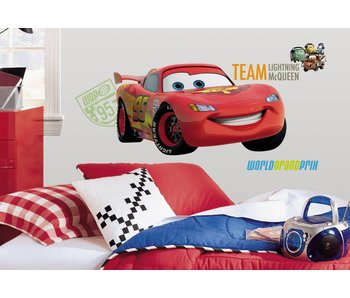 Cars muursticker Lightning McQueen groot