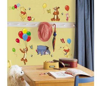 Winnie de Poeh muursticker ballonnen