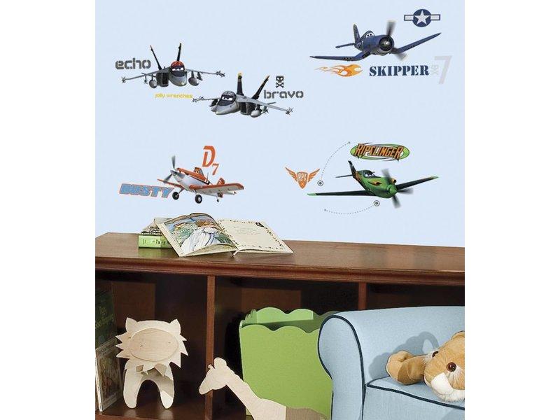 Disney Planes muursticker Dusty, Skipper en meer