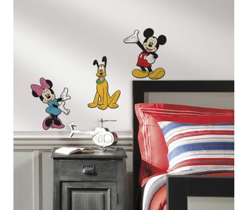 Muursticker Mickey, Minnie en Pluto 3D
