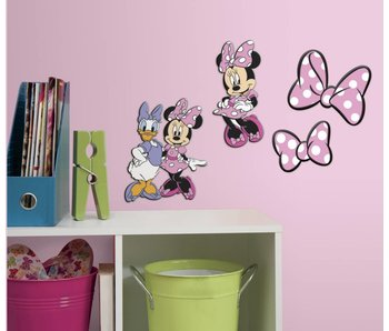 Minnie Mouse en Katrien Muursticker