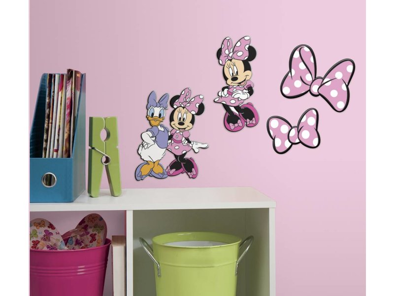 Disney Minnie Mouse en Katrien Muursticker