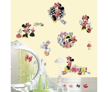 Muursticker Minnie Mouse houdt van winkelen