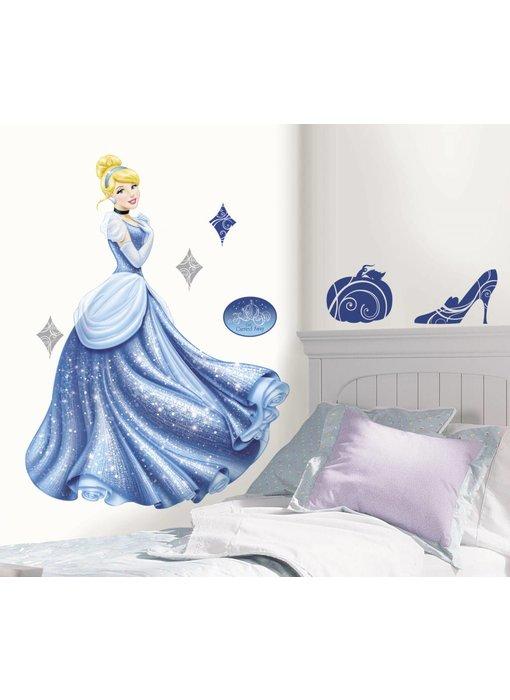 Muursticker Assepoester groot (Disney Princess)
