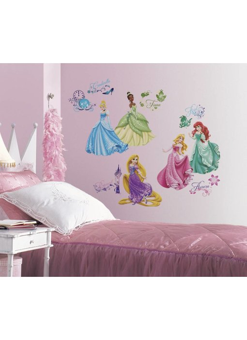 Disney Princess muursticker van alle Disney prinsessen