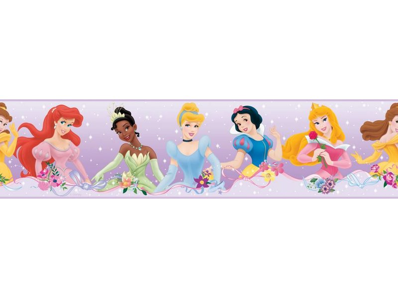 Disney Muursticker met alle Disney prinsessen