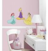 Disney Muursticker Rapunzel, Belle en Ariël 3D schuim