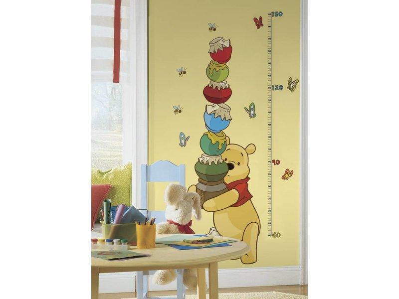 Disney Groeimeter Winnie de Poeh muursticker