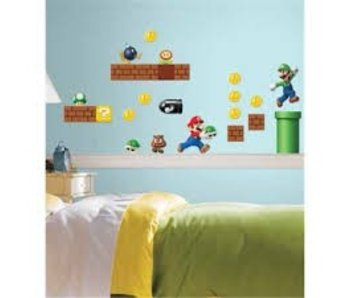 Muursticker Super Mario kinderkamer