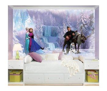 Muursticker Frozen Elsa, Anna en Olaf stickerbehang