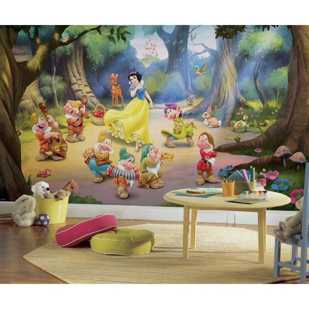 Bekend Disney Princess stickerbehang Sneeuwwitje en de zeven dwergen AT33