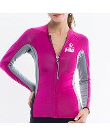 Howzit neopreen jacket Luna roze/grijs