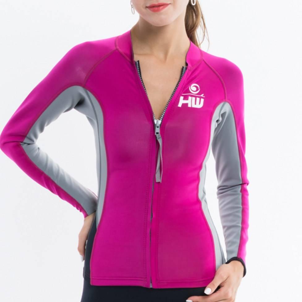 Howzit Howzit neopreen jacket Luna roze/grijs
