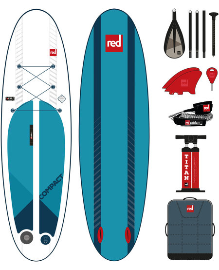 """Red Paddle 9'6"""" x 32"""" COMPACT complete"""