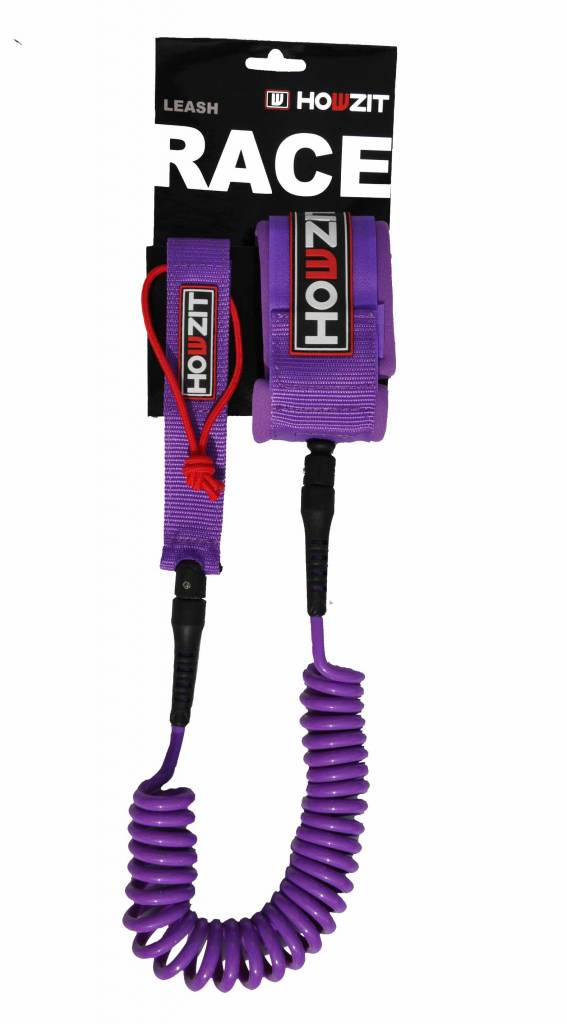 Howzit leash coiled purple