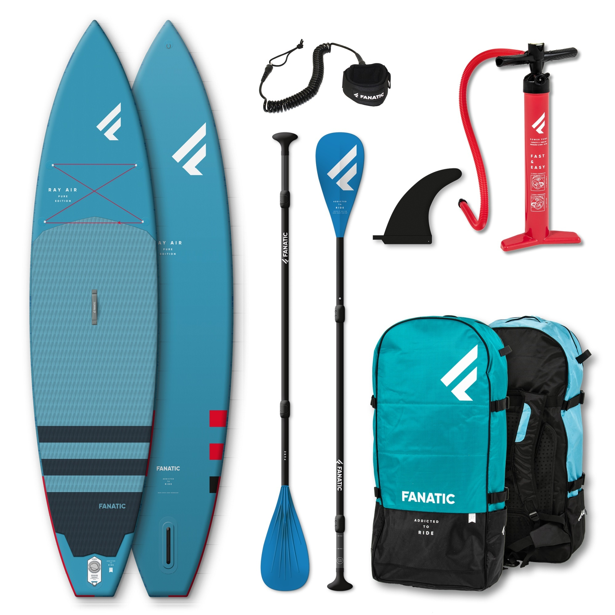 """Fanatic Ray Air 12'6"""" x 32"""" set complete"""