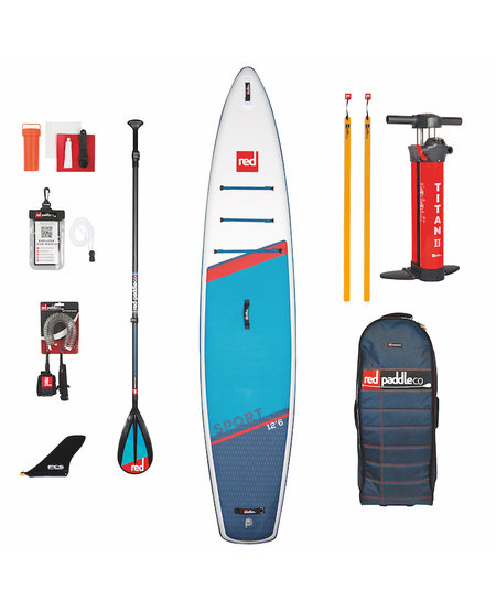 "Red Paddle 12'6"" x 30""  Sport SUP-pakket 2021"