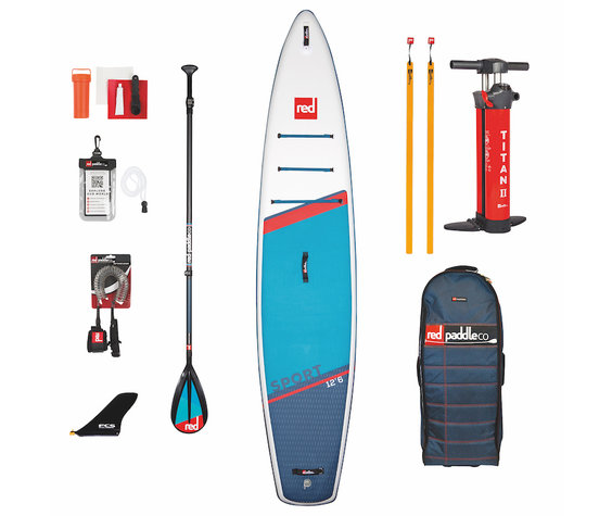 """Red Paddle Co Red Paddle 12'6"""" x 30""""  Sport SUP-package 2021"""