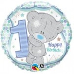 Ballon 'Happy Birthday' 1 jaar - jongen