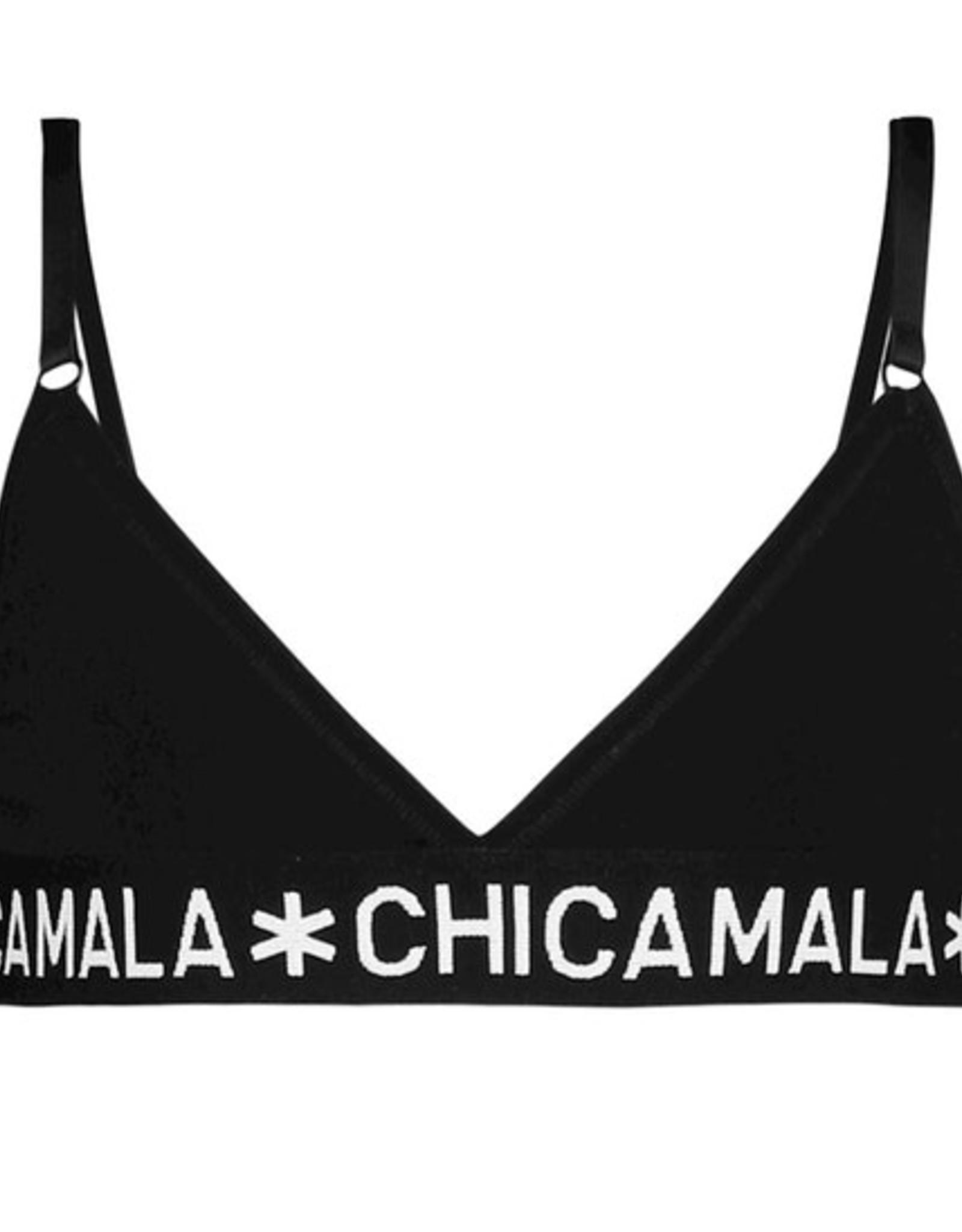 Chicamala Triangle top Solid basis - zwart