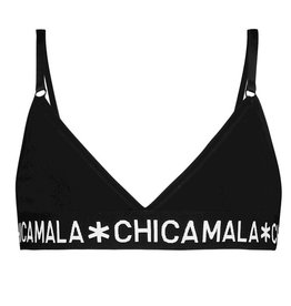 Chicamala Triangle top Solid basis - zwart