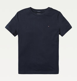Tommy Hilfiger Basis T-Shirt ronde hals 04140 - donkerblauw