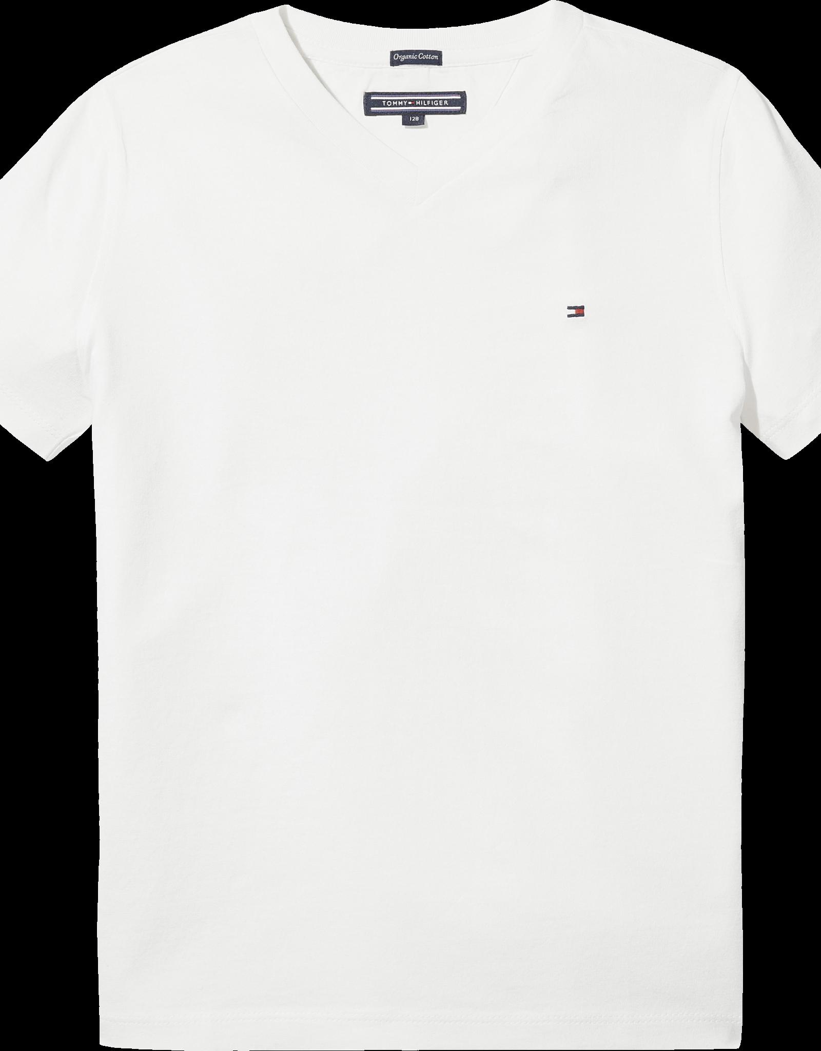 Tommy Hilfiger Basis T-Shirt V-Hals 04142 - wit