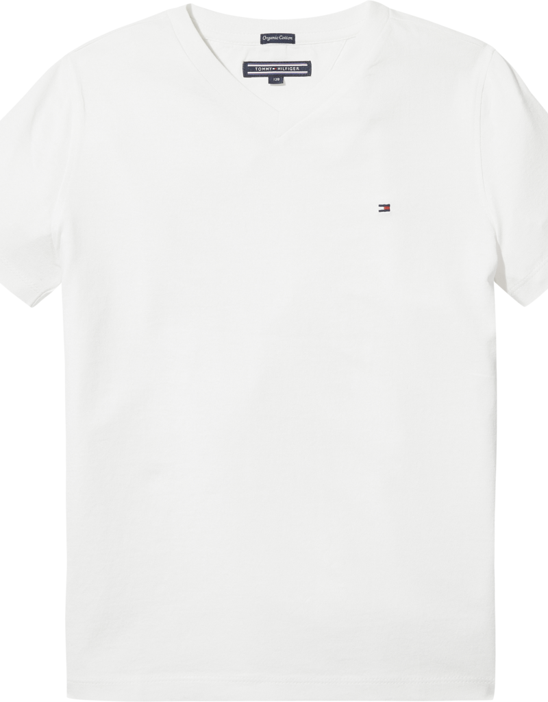 Tommy Hilfiger Basis T-Shirt V-Hals 04142 - wit
