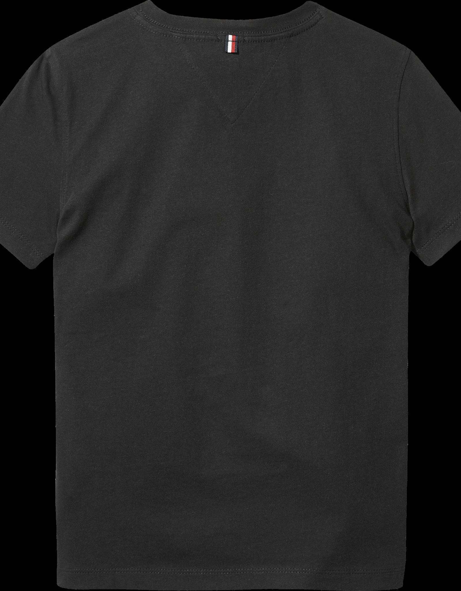 Tommy Hilfiger Basis shirt 04142 V-Hals - zwart