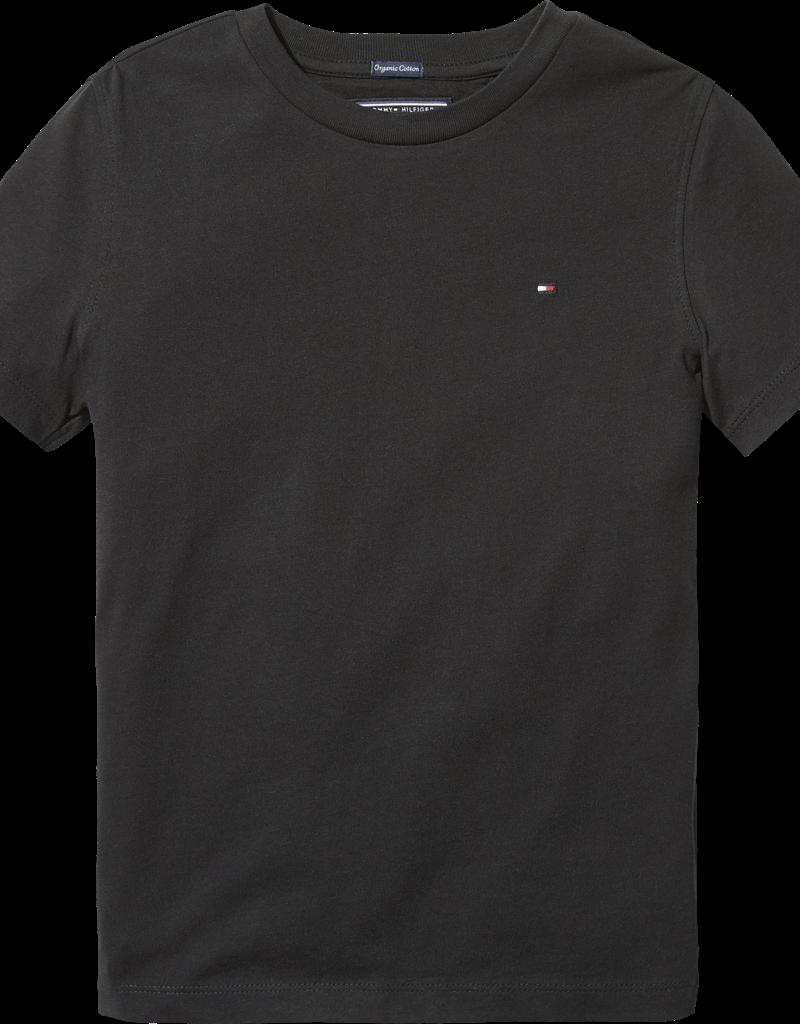 Tommy Hilfiger Basis T-Shirt ronde hals 04140 - zwart