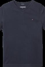 Tommy Hilfiger Basis T-Shirt V-Hals 4142420 - donkerblauw