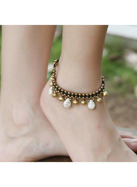 Bandajanas Beachgirl ankle strap white
