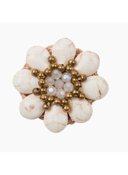 Bandajanas White Stuff Flower , set van 2