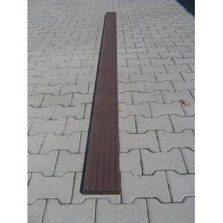Kunststof vlonderplank 4,7x20x100 cm zwart