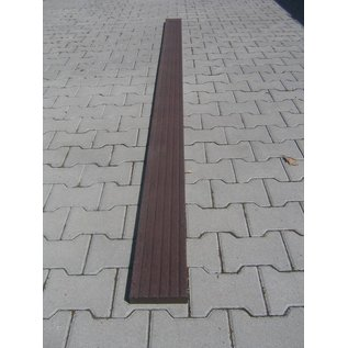Kunststof vlonderplank 3x15x300 cm inc. Gripstrip Bruin