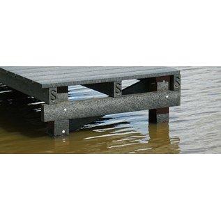 Kunststof balk 8x18x205 cm staalversterkt