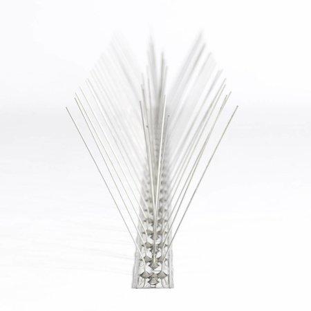 Meeuwenpinnen MIC313 - RVS 12,5 cm hoog -  op RVS-strip van 100 cm, met 66 RVS pinnen - 1 mt/st