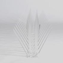 Kunststof duivenpinnen MIC230 op 0,5 mt kunststof strip,  30 pinnen - 0,5 mt/st