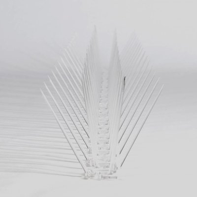 Kunststof duivenpinnen op Polycarbonaatstrip 50 cm met 30 POLY- pinnen, MIC230