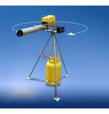 Draaistandaard elektronisch knalapparaat 1,25 mt hoog